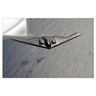 A B2 Spirit flies over the Pacific Ocean Wall Decal