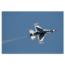 The US Air Force Thunderbirds perform during the 2 Framed Print