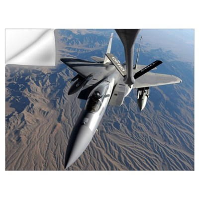 A US Air Force F15 Eagle flies toward the boom of Wall Decal