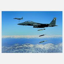 US Air Force F15E Strike Eagle aircraft drops 2000