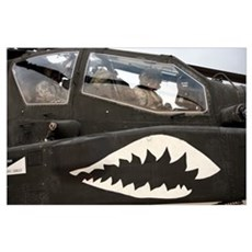 An AH64D Apache Longbow Block III prepares for tak Poster