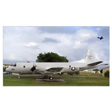 A P3 Orion aircraft on display Poster