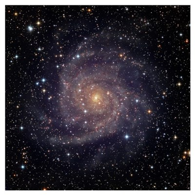 IC 342 an intermediate spiral galaxy in the conste Framed Print