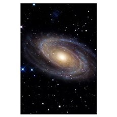 Messier 81 a spiral galaxy in the constellation Ur Poster