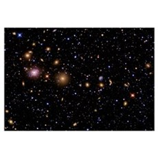 The Perseus Galaxy Cluster Framed Print