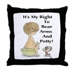 The Right to Bear Arms & Pott Throw Pillow