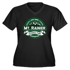 Mt. Rainier Forest Women's Plus Size V-Neck Dark T