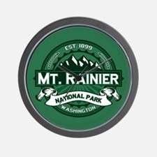 Mt. Rainier Forest Wall Clock