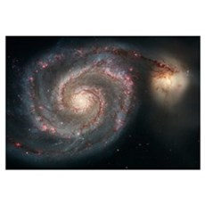 The whirlpool galaxy M51 and companion galaxy Poster
