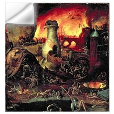 Hell (oil on panel) Wall Decal