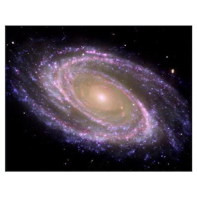 Spiral galaxy Messier 81 Poster