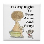 The Right to Bear Arms & Pott Tile Coaster