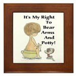 The Right to Bear Arms & Pott Framed Tile
