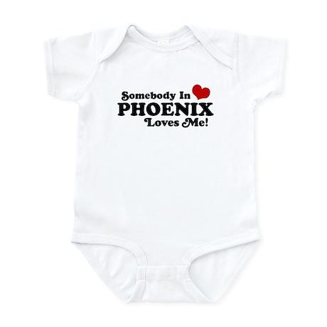 Somebody In Phoenix Loves Me Infant Bodysuit