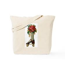 Roller Skate Rose Tote Bag