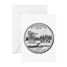 2005 Minnesota State Quarter  Greeting Cards (Pack