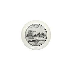 2005 Minnesota State Quarter Mini Button (100 pac