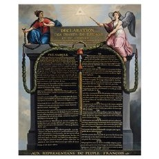 Declaration of the Rights of Man and Citizen, 1789 Canvas Art