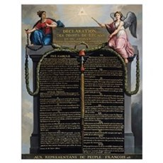 Declaration of the Rights of Man and Citizen, 1789 Poster