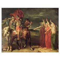 Macbeth and the Three Witches, 1855 (oil on canvas Poster