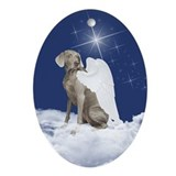 Weimaraner angel Ornaments
