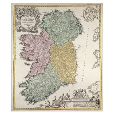 Map of Ireland Poster