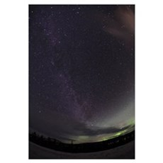 Milky Way and Aurora Framed Print
