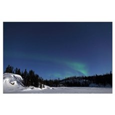 Aurora over Vee Lake Yellowknife Northwest Territo Poster