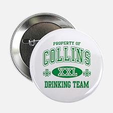 """Collins Irish Drinking Team 2.25"""" Button"""