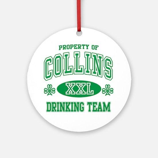 Collins Irish Drinking Team Ornament (Round)