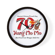 Yung No Mo 70th Birthday Wall Clock