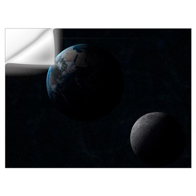 Earth moon and the sun Wall Decal