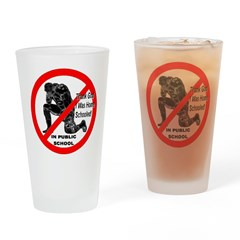 No Praying In Public Schools Drinking Glass
