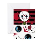 Cute Masked Killer Greeting Cards (Pk of 20)
