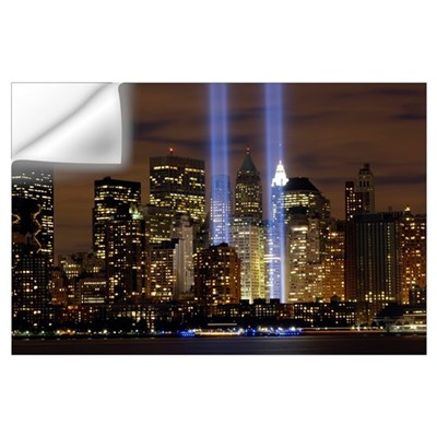 The Tribute in Light memorial Wall Decal