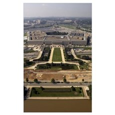 Aerial photograph of the Pentagon with the River P Poster