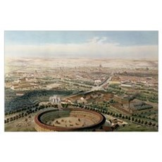 Aerial View of Madrid from the Plaza de Toros, 185 Poster