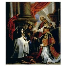 Communion of St. Teresa of Avila (1515-82) c.1670  Poster