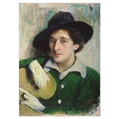 Portrait of Marc Chagall, c.1910 (oil on canvas) Poster
