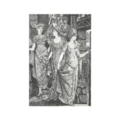 Ford's Dancing Princesses Rectangle Magnet