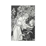Batten's Beauty and the Beast Rectangle Magnet
