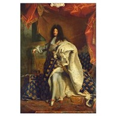 Louis XIV in Royal Costume, 1701 (oil on canvas) Poster