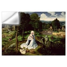 Rest on the Flight into Egypt (oil on panel) Wall Decal