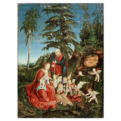 Rest on the Flight into Egypt, 1504 (oil on panel) Poster