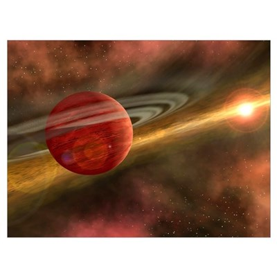 A possible newfound planet spins through a clearin Poster