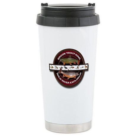Brook Trout King Stainless Steel Travel Mug