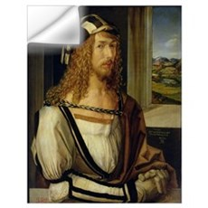 Self Portrait with Gloves, 1498 (oil on panel) Wall Decal