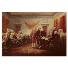 Signing the Declaration of Independence, 4th July Framed Print