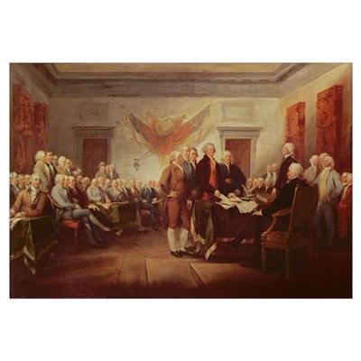 Signing the Declaration of Independence, 4th July Canvas Art