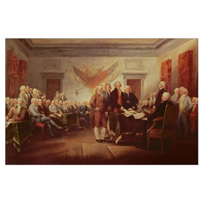 Signing the Declaration of Independence, 4th July Poster